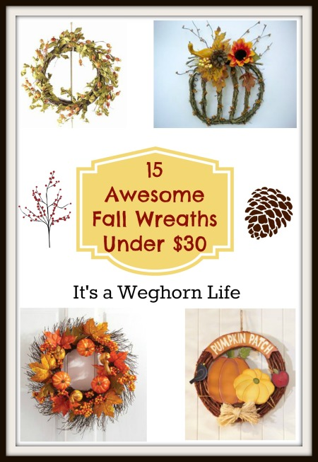 15 Awesome Fall Wreaths Under $30