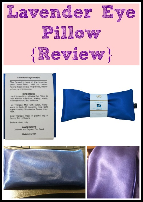 Lavender Eye Pillow {Review}